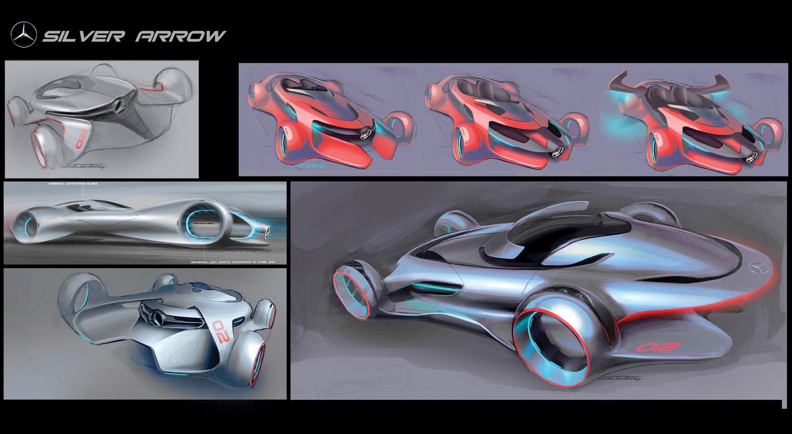 2011 Mercedes Benz Silver Arrow Concept Mercedes Benz